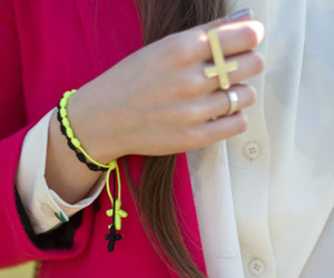 girl, rings, and style image