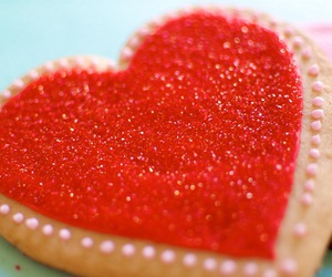 cookie, heart, and red image