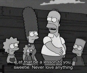 black and white, homer, and funny image