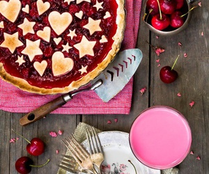 cherry, food, and pie image
