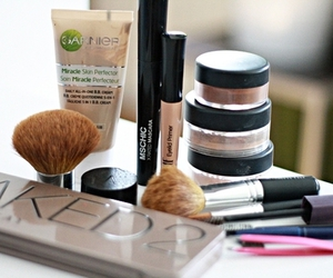 makeup, make up, and garnier image