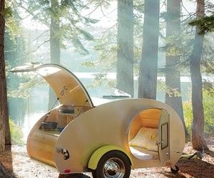 car, forest, and camping image