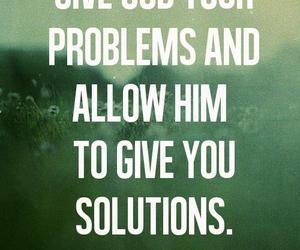 god, problem, and solution image