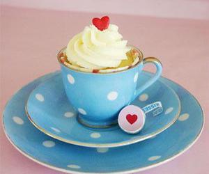 blue, cake, and cream image
