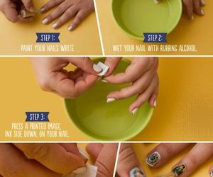 nails, nail art, and transfer image