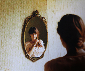 mirror, girl, and vintage image