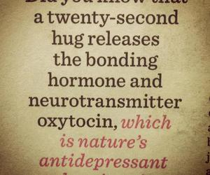 hug and quote image