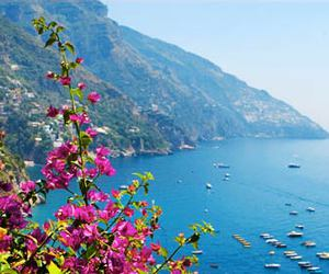 Amalfi coast, beach, and capri image