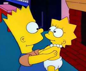bart, the simpsons, and lisa image