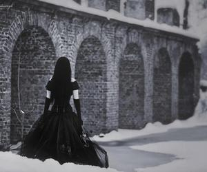 black and white, girl, and goth image