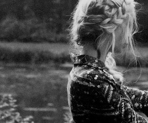 beautiful, blonde hair, and forest image