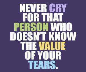 cry, quotes, and tears image