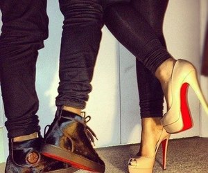 shoes, louboutin, and couple image
