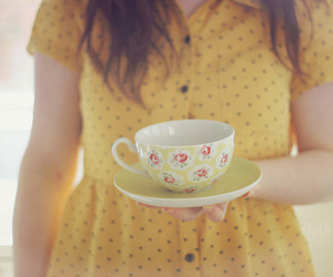 vintage, cup, and dress image
