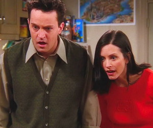 chandler, chandler bing, and couple image