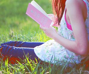 book, girl, and keep calm image