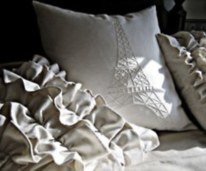 paris, pillow, and eiffel tower image