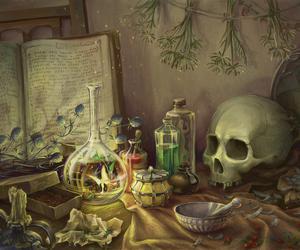 skull, fairy, and fantasy image