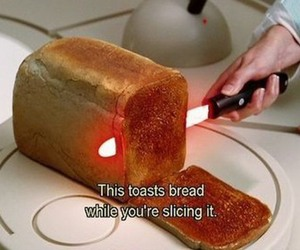 bread, toast, and the hitchhiker's guide to the galaxy image