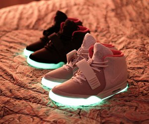 shoes, nike, and light image