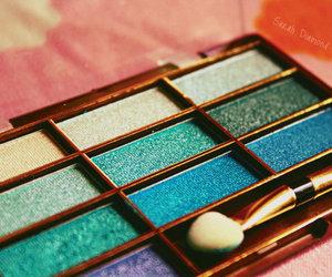 make up, makeup, and blue image