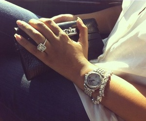 diamond, ring, and watch image