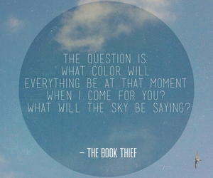 book, sky, and the book thief image
