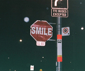 smile, night, and sign image