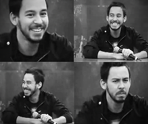 linkin park, mike shinoda, and black and white image