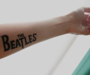 beatles, tattoo, and music image