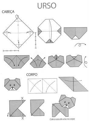 Origami Bear Folding Instructions | Origami Instruction on
