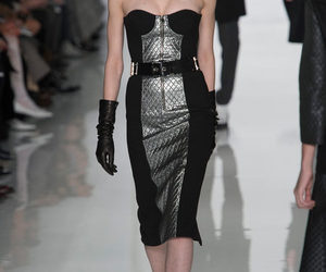 ready to wear, michael kors fall 2013, and silver black dress image