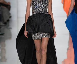 Karlie Kloss, ready to wear, and black and diamonds image