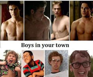 boy, the vampire diaries, and mystic falls image