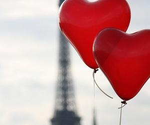 amour, ballon, and heart image