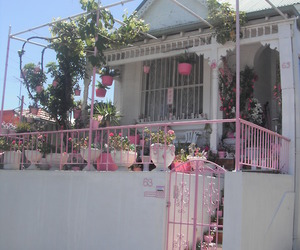 pink, house, and pale image