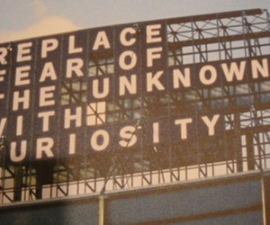 curiosity, quote, and fear image