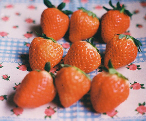 strawberry, flowers, and food image