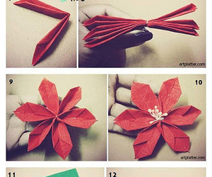 poinsettia and origami instructions image