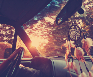 car, dreamcatcher, and Nice day image