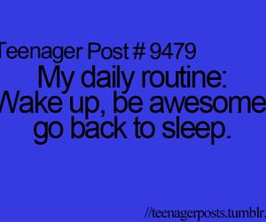 teenager post, funny, and sleep image