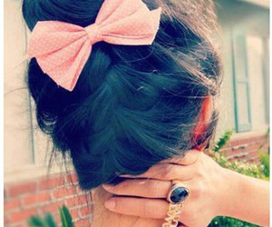 bows, braid, and hairstyle image