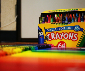 crayons, photography, and colorful image