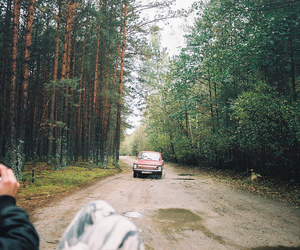 car, photography, and forest image
