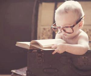 baby, book, and old image