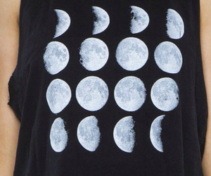 moon, style, and black image