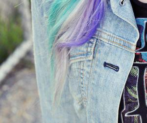 green, hair, and purple image