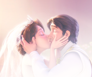 disney, tangled, and kiss image