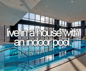 pool, before i die, and house image