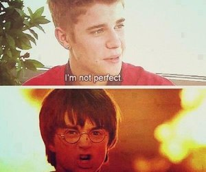 justin bieber, harry potter, and liar image